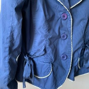 Anthropologie Jackets & Coats - Anthropologie Sitwell Blue / White Blazer